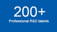 200 Professional R&D talents